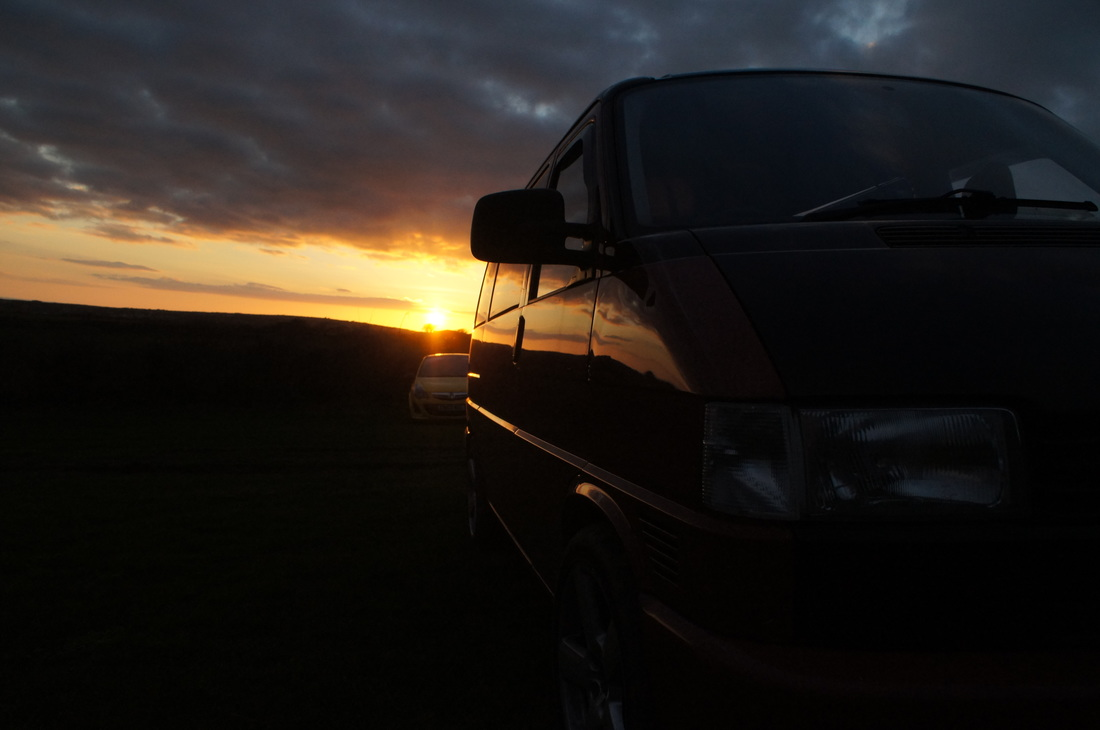 Gower Sunset Camping T4 vw Sony alpha