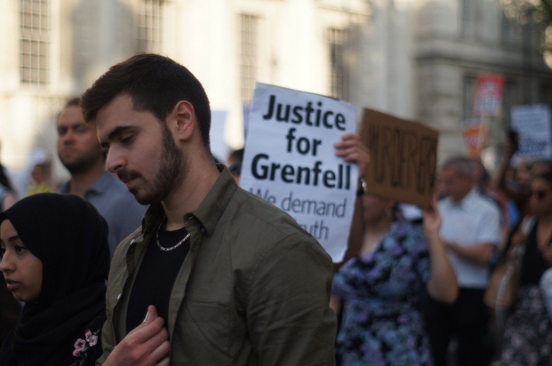 London, Justice for Grenfell Protest March